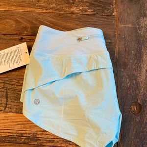 Lululemon blue glow speed up shorts size 4